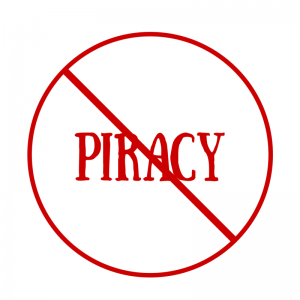 Piracy not allowed sign