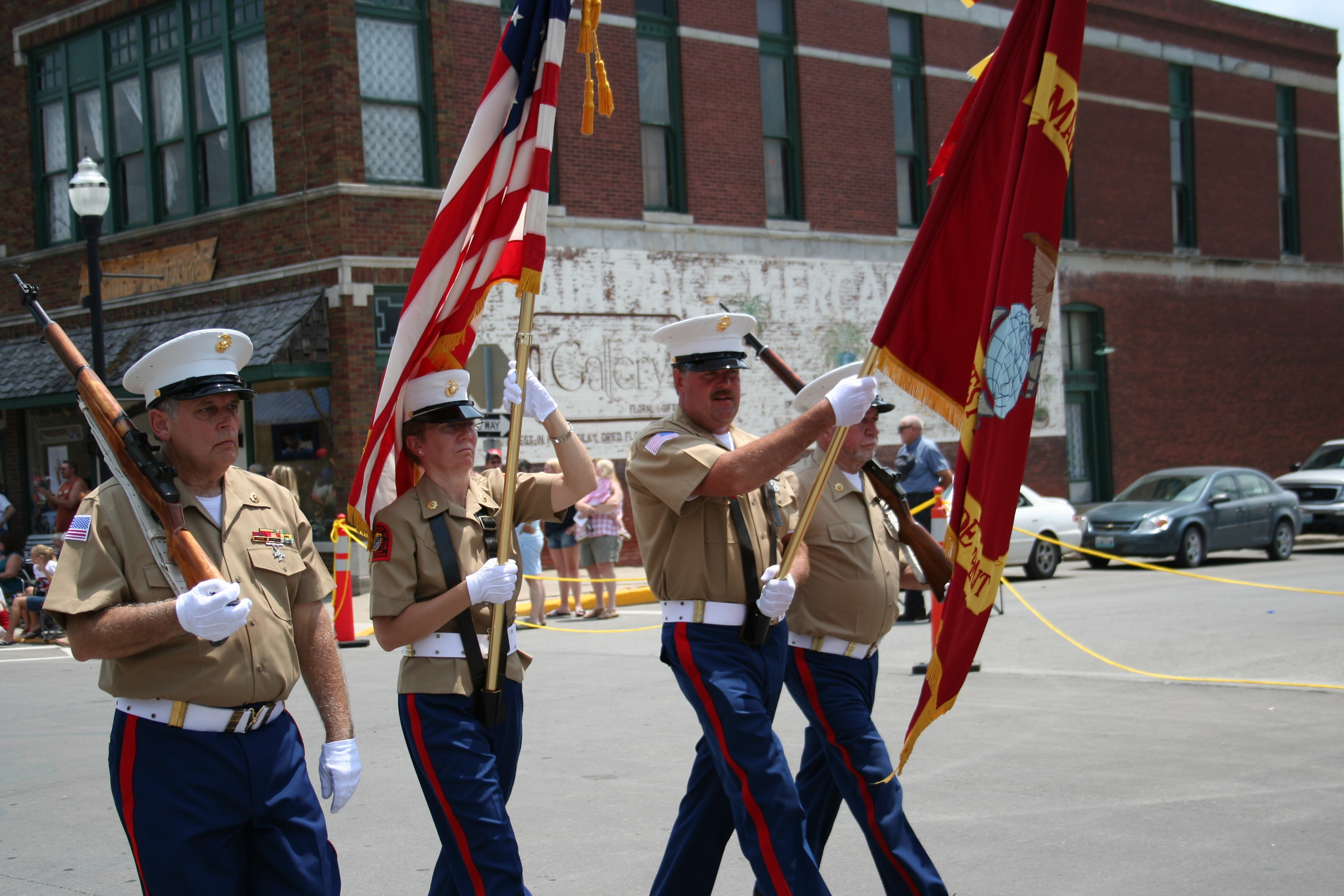 Marine Corps League color guard.