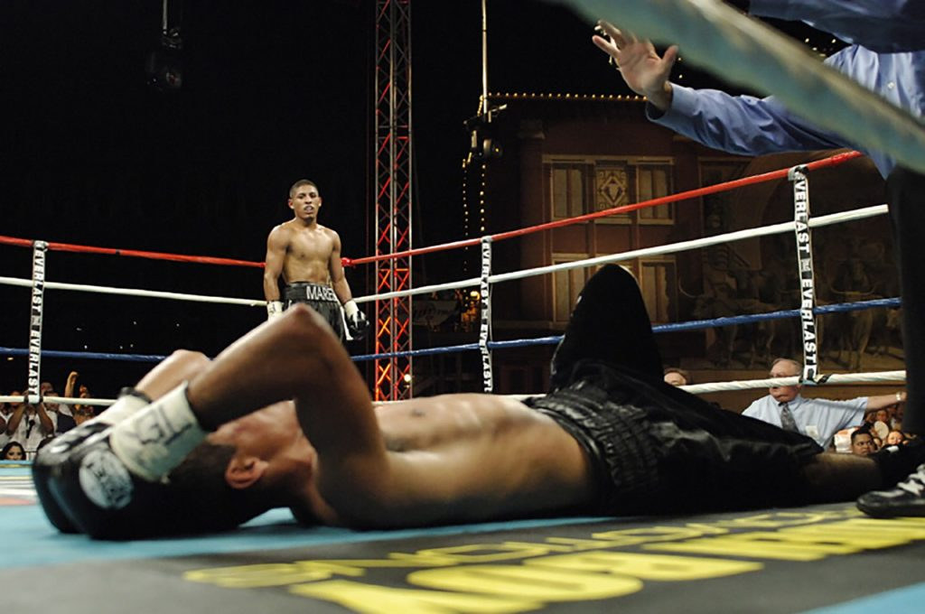 defeat in the boxing ring